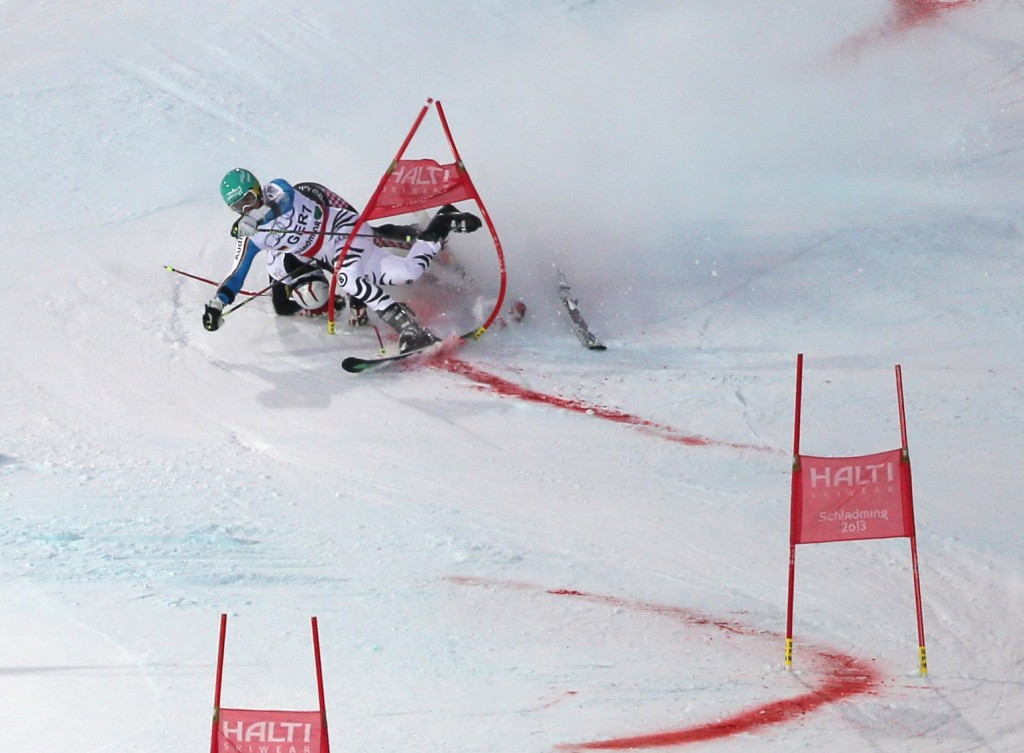 At the Nations Team Event in Schladming last winter, Filip Zubcic collides with Felix Neureuther. GEPA Photo