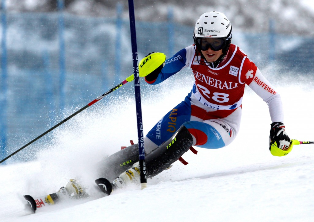 Wendy Holdener at last year's race in Levi (credit: GEPA/Mario Kneisl).