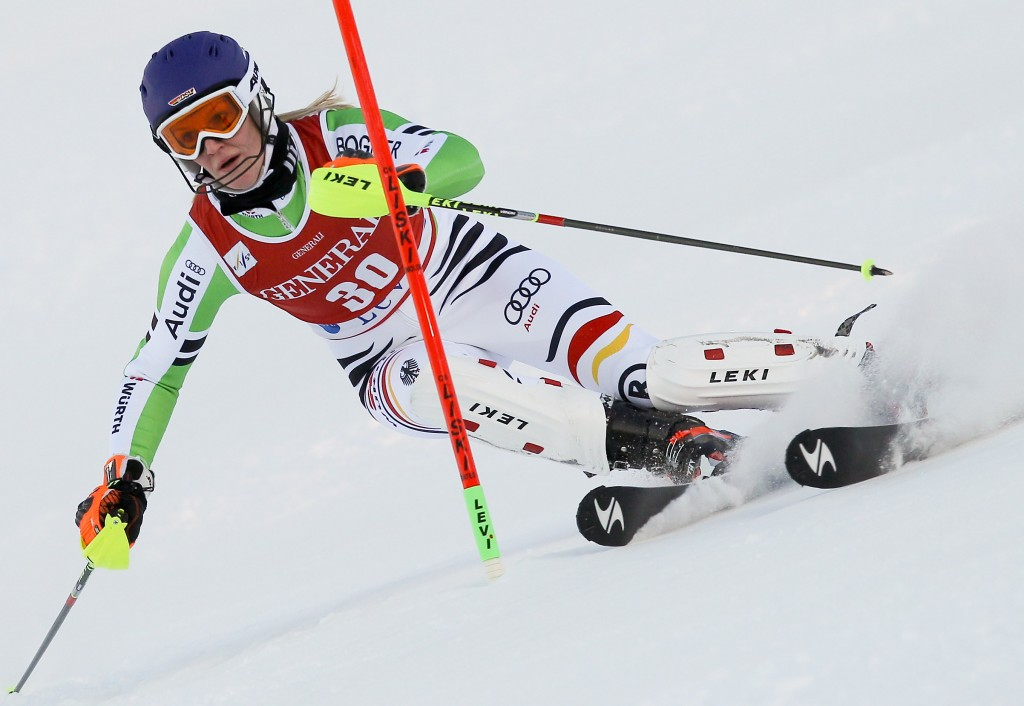 Susanne Riesch racing in Levi (GEPA/Christopher Kelemen)