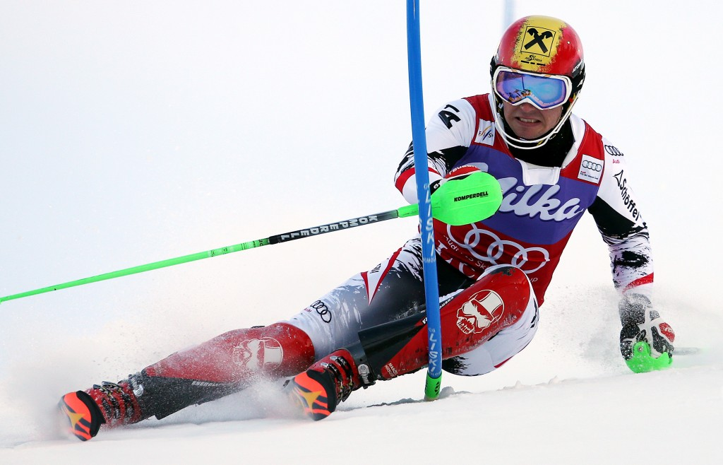 Hirscher held his lead through both runs in Levi (GEPA/Mario Kneisl)