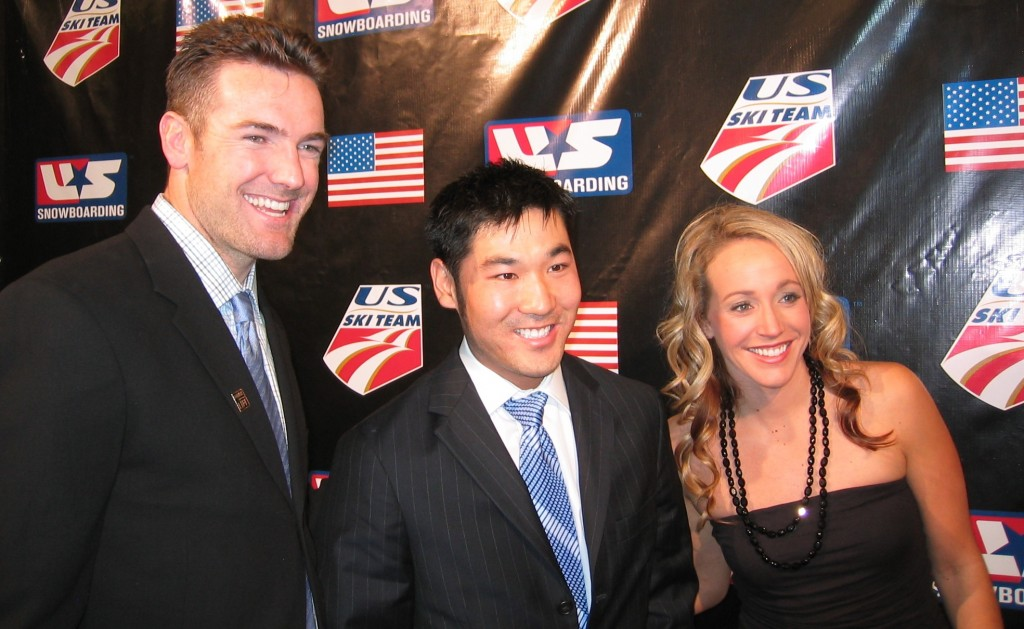 Dawson (center) at the '05 New York Ski & Snowboard Ball