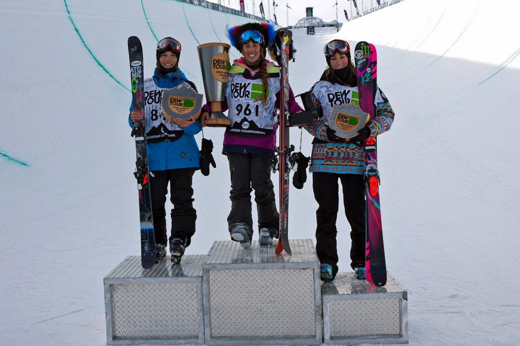 U.S. women's podium sweep (Alli Sports/U.S. Freeskiing)