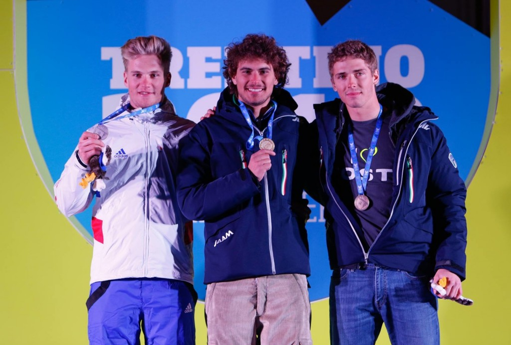 Men's downhill podium (Alice Russolo)
