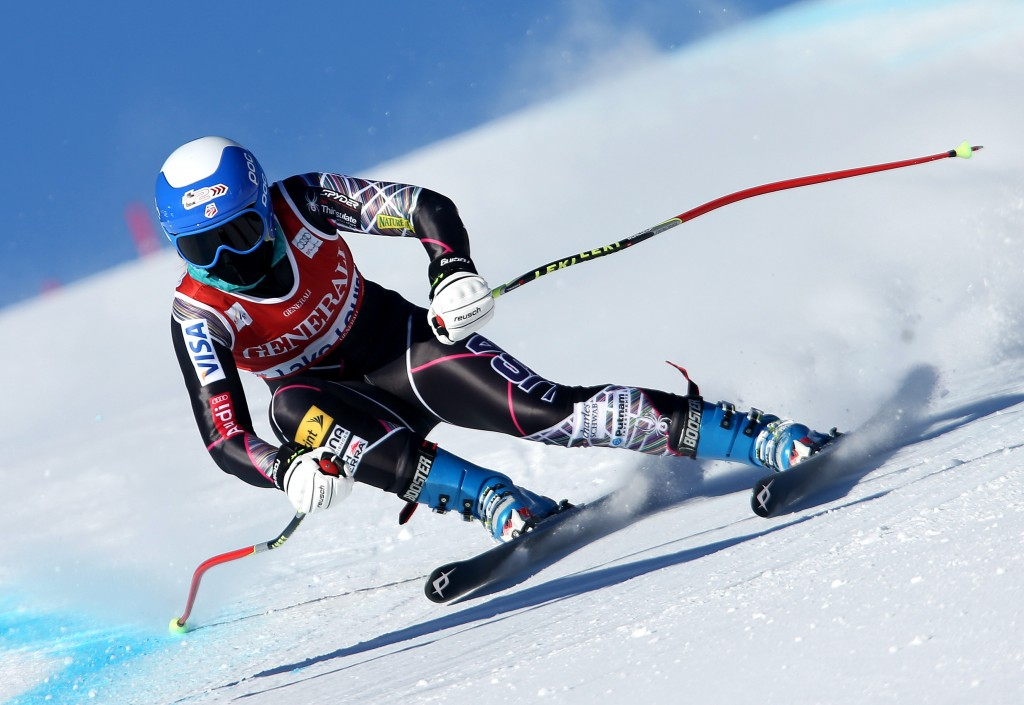 Julia Ford runs the American line in Lake Louise (GEPA/Mario Kneisl)