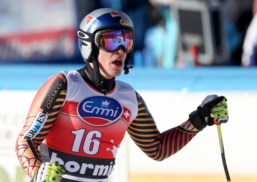 Erik Guay at the Bormio finish (GEPA/Christian Walgram)