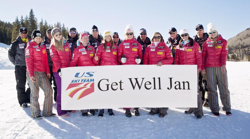 The U.S. women's team sent this message to Tischhauser in Nov.