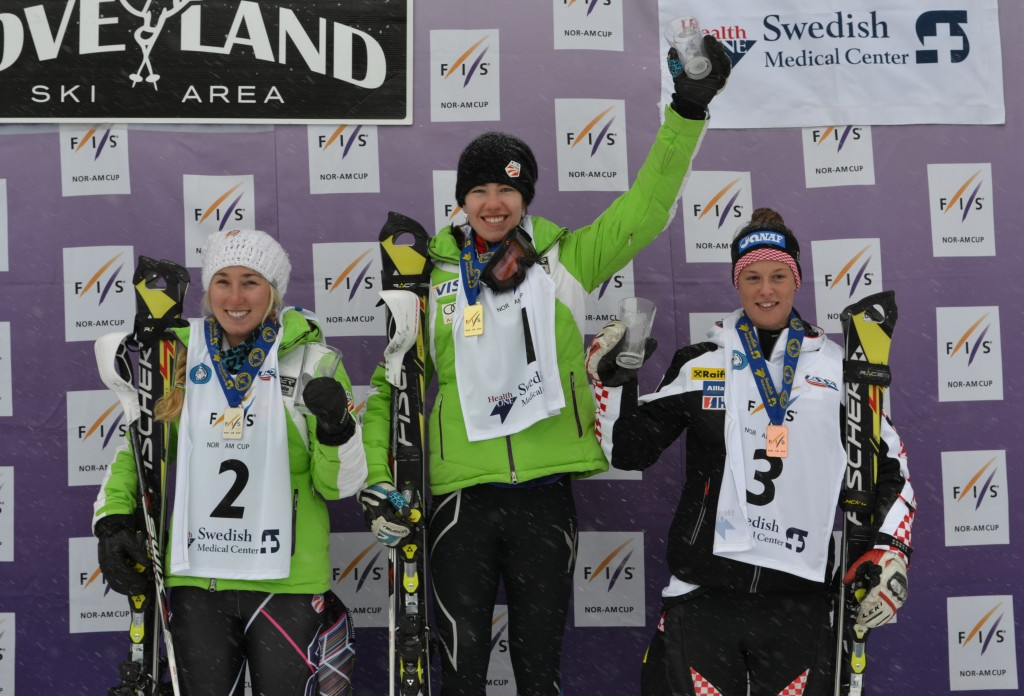 The junior podium at Loveland with Lapanja on top.