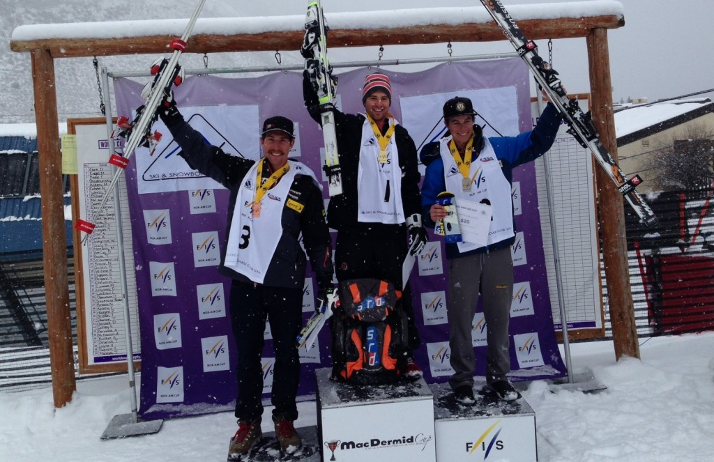 Ankeny, Cohee, and Megarry on the podium in Vail.