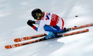 Lara Gut, the winner in Sunday's Cortina super G.