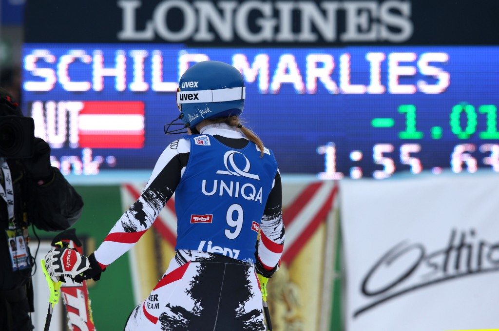 Marlies Schild at the Lienz World Cup (GEPA/Andreas Pranter)