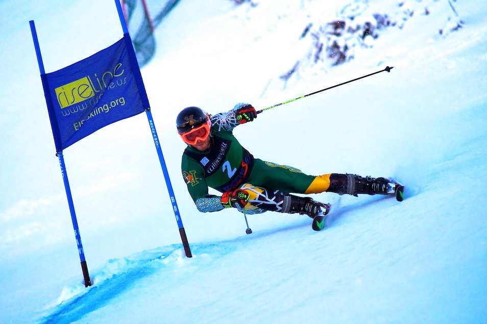 Vermont's Dawson takes the GS win (Doug Williams)