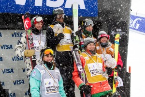 Justin Dorey and Devin Logan claimed the FIS World Cup halfpipe titles. (USSA)