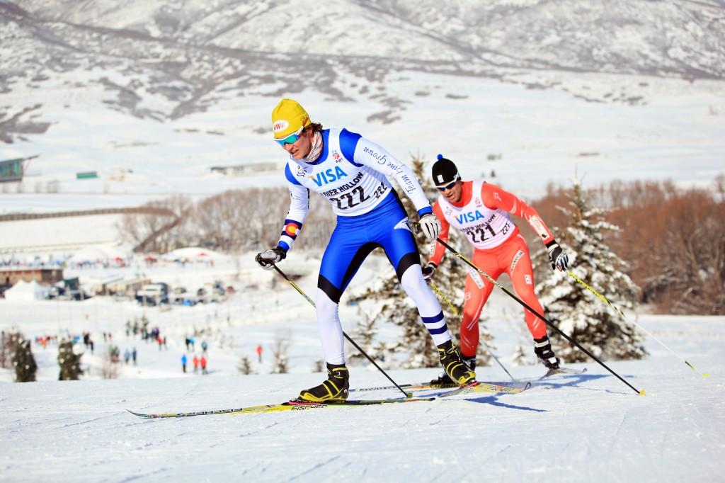 Sylvan Ellefson racing in the 2013 national championships (Sarah Brunson/USST)