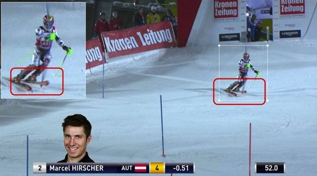 Austrian Ski Federation's photo defense of Hirscher's clear passage.