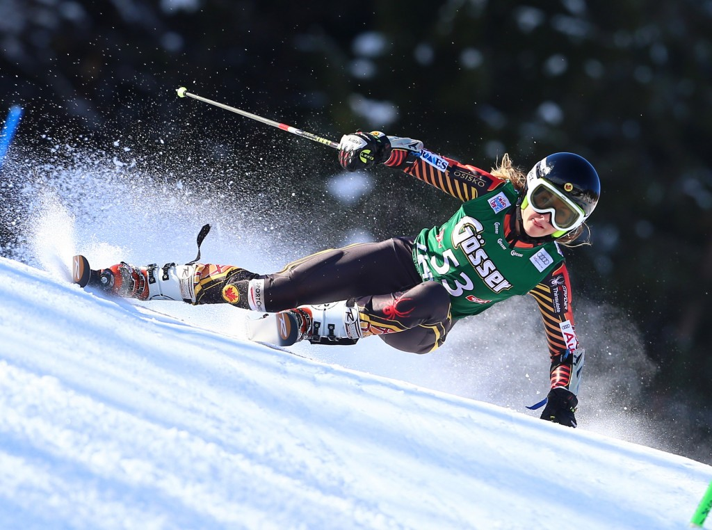 Mikaela Tommy in the Lienz World Cup (GEPA/Felix Roittner)