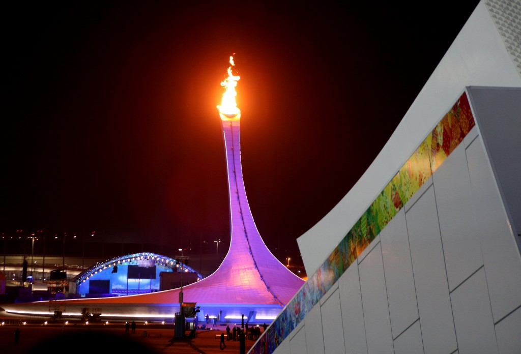 The Olympic flame in Sochi (GEPA/Andreas Pranter)