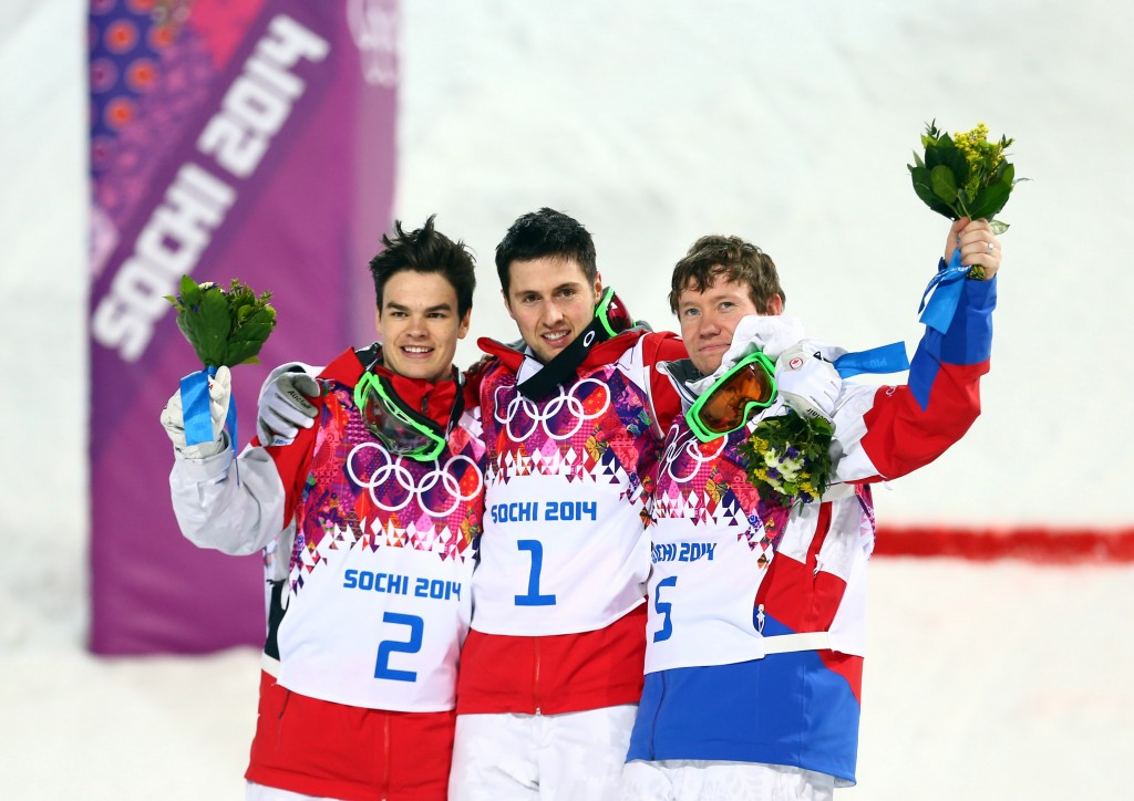 Men's moguls podium (GEPA)