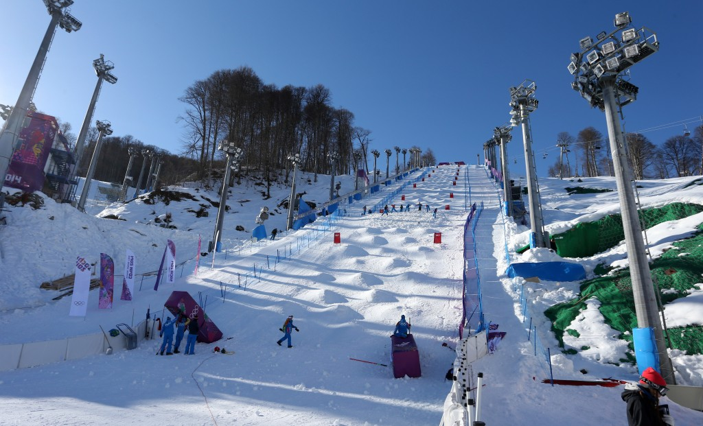 Sochi Olympic moguls course (GEPA/Daniel Goetzhaber)