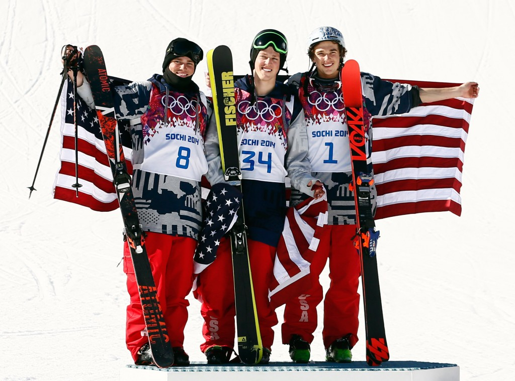 Kenworthy, Christensen, and Goepper on the podium (GEPA)