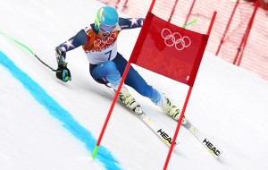 Ted Ligety leading after first run in Sochi. (GEPA)