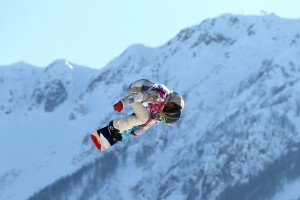 Jamie Anderson wins gold in snowboard slopestyle. (GEPA)