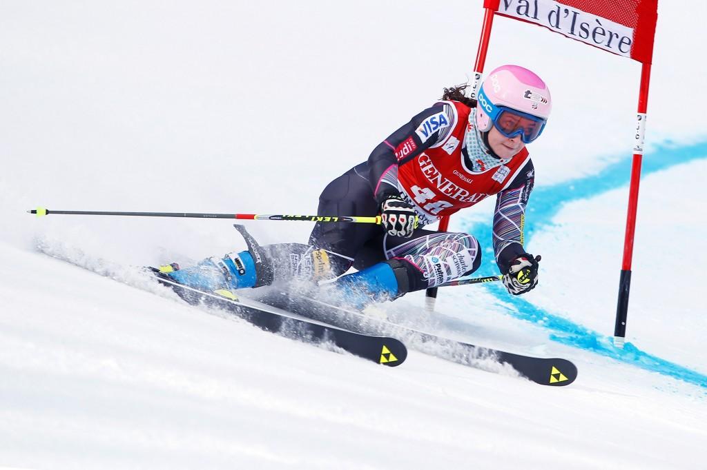 Megan McJames in Val d'Isere (GEPA/Mathias Mandl)