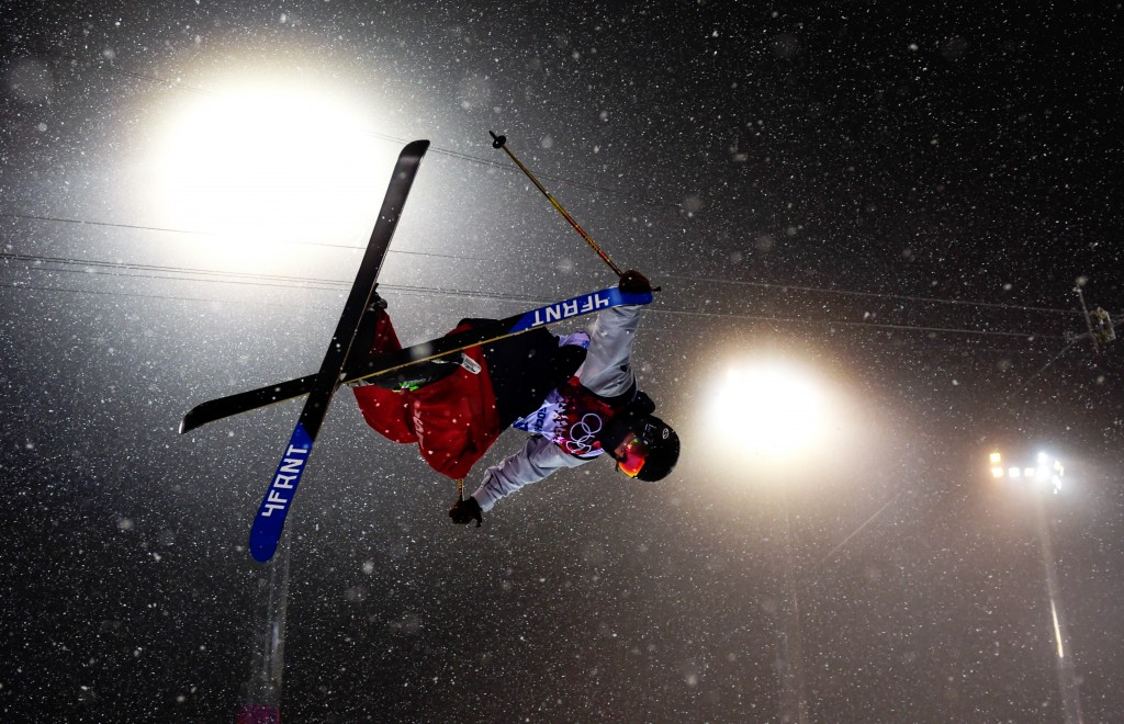 U.S. Freeskiing's David Wise in Sochi. (GEPA)