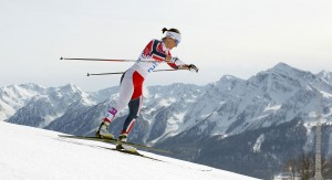 Marit Bjoergen won her third gold of the Games in the women's 30km, leading a sweep by Norway. (GEPA/Daniel Goetzhaber)