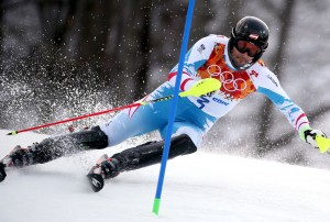 Mario Matt of Austria captured his first Olympic medal by winning the men's slalom. (GEPA/Mario Kneisl)