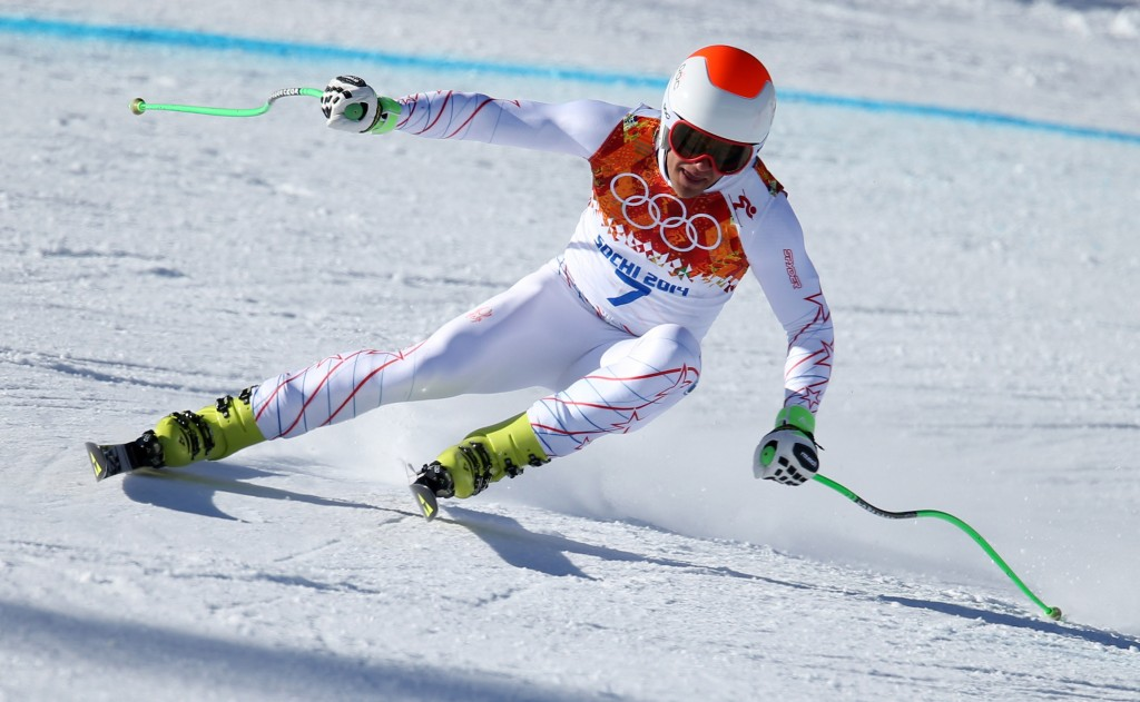 Steven Nyman, chasing a spot in Sunday's Olympic downhill, was 18th in Friday's second training run.