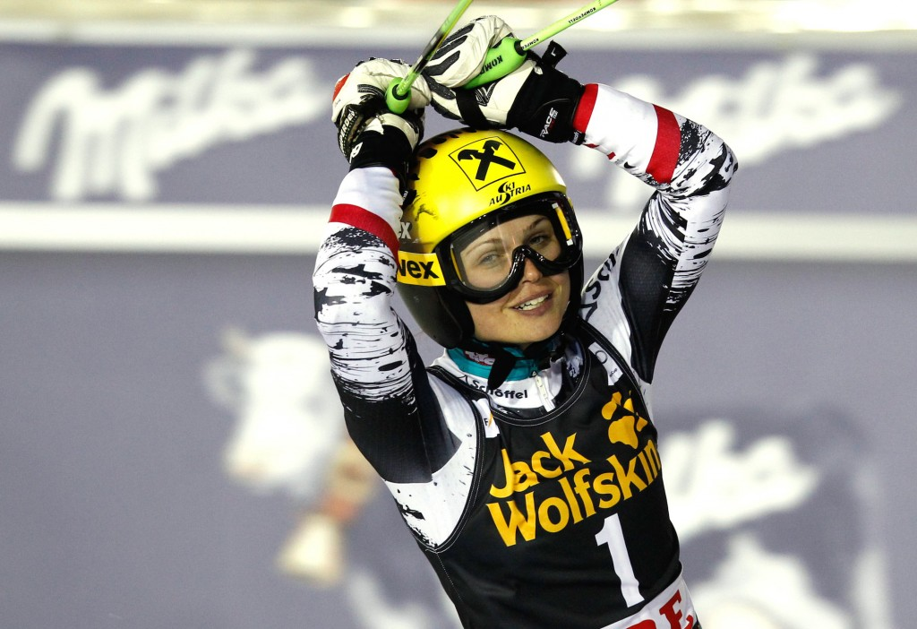 Anna Fenninger picks up her second win of the week in Are, Sweden. (GEPA)