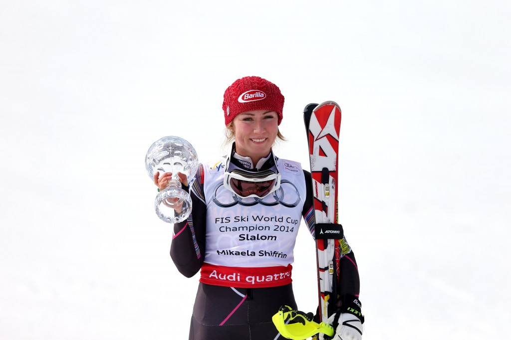 Shiffrin collects second career slalom title. (GEPA)