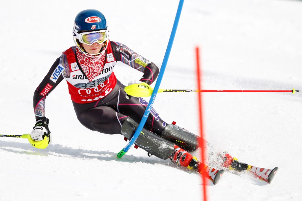 Shiffrin locks up 2014 slalom title with win in Are, Sweden.