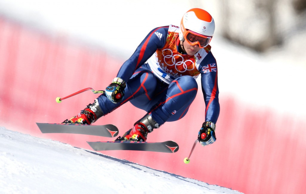 Chemmy Alcott competes in Sochi. GEPA