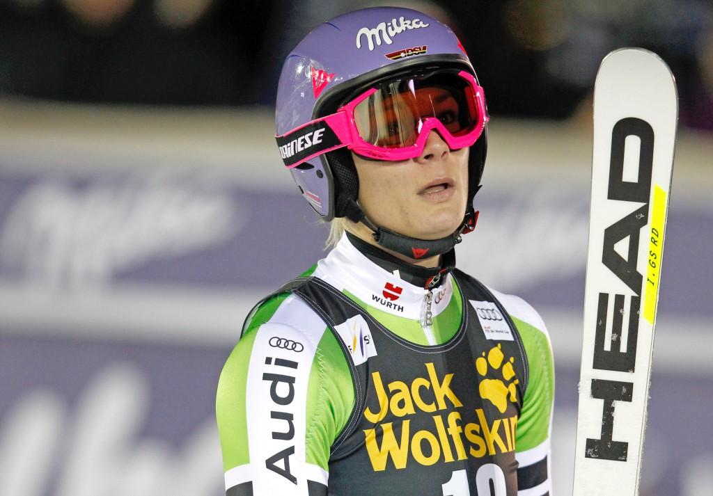Maria Hoefl-Riesch earlier this season. GEPA/Harald Steiner