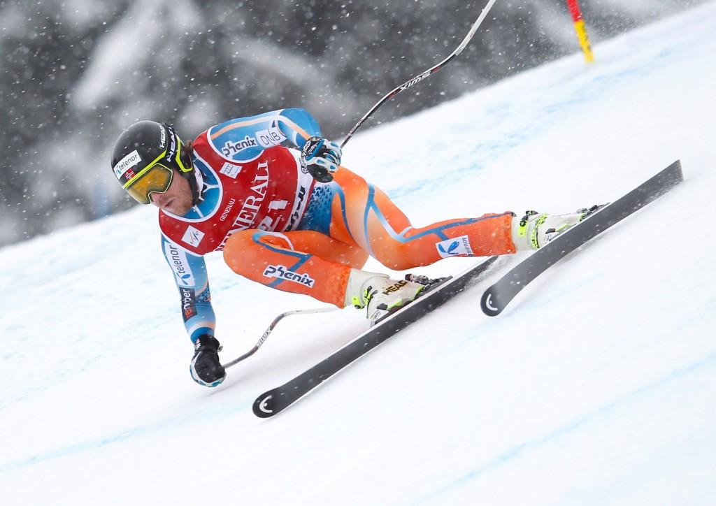 Kjetil Jansrud on the Kvitfjell SG track (GEPA/Harald Steiner)