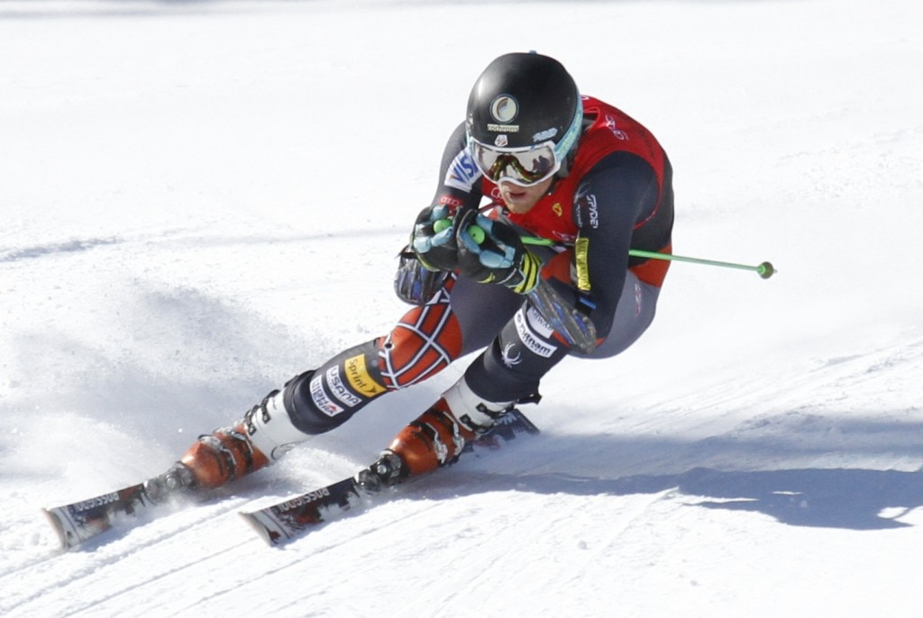 Ryan Cochran-Siegle at NorAm Finals in Nakiska. Pepi Culver