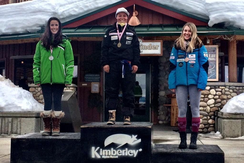 Women's super G podium (Gregor Druzina)