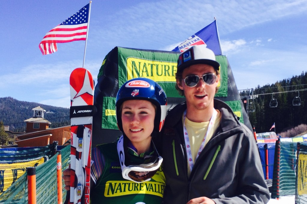 Mikaela Shiffrin with her older brother, Taylor.