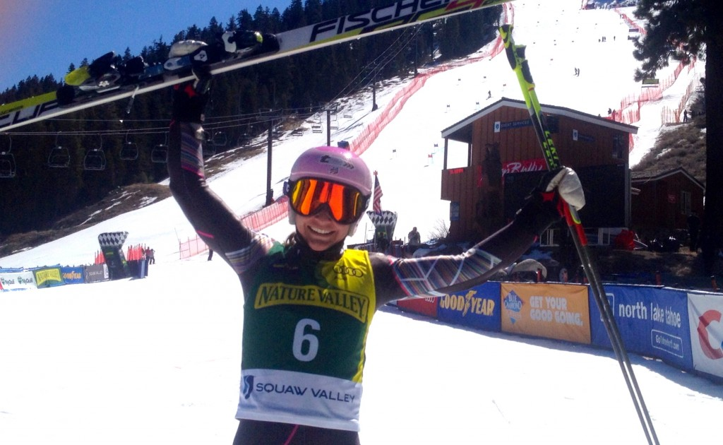 Megan McJames with the final win in Squaw Valley. USST
