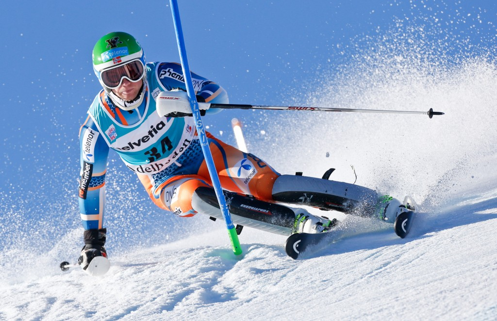 Jonathan Nordbotten in the 2014 Adelboden World Cup. GEPA/Wolfgang Grebien