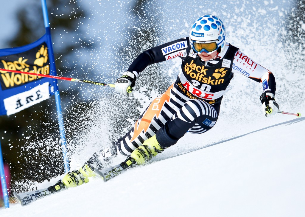 Tanja Poutiainen in one of her last World Cup races before retiring. GEPA/Harald Steiner