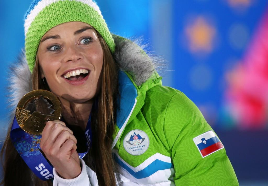 Tina Maze at the Sochi Olympic Games. GEPA/Andreas Pranter