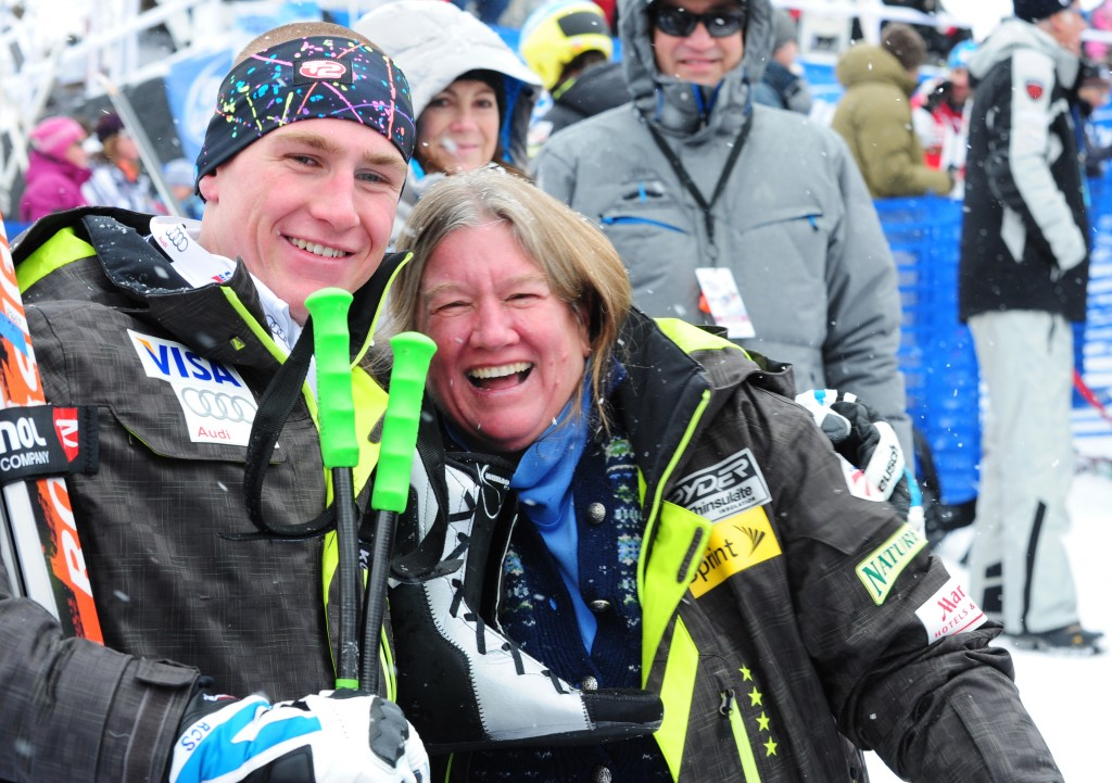 U.S. Ski Teamer Ryan Cochran-Siegle with mom Barbara Ann Cochran. USST/Tom Kelly