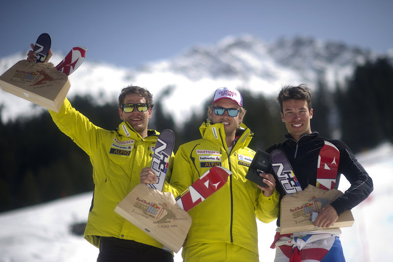 The men's podium from finals at Red Bull SKiLLS. Andreas Schaad