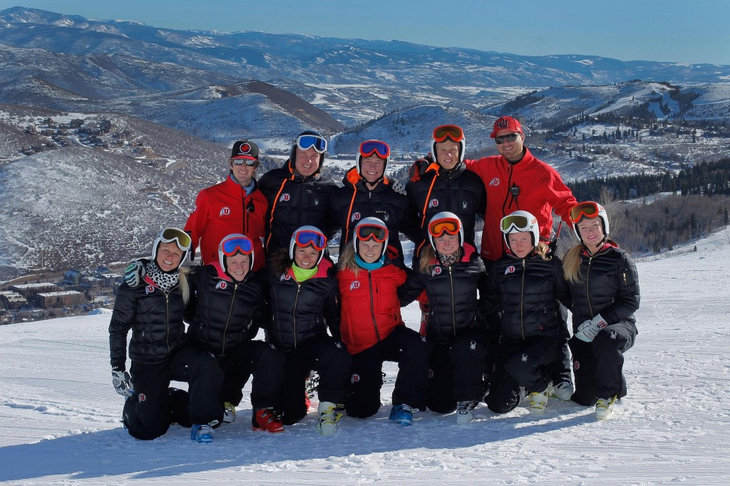 The 2014 University of Utah alpine team. Utah Ski Team