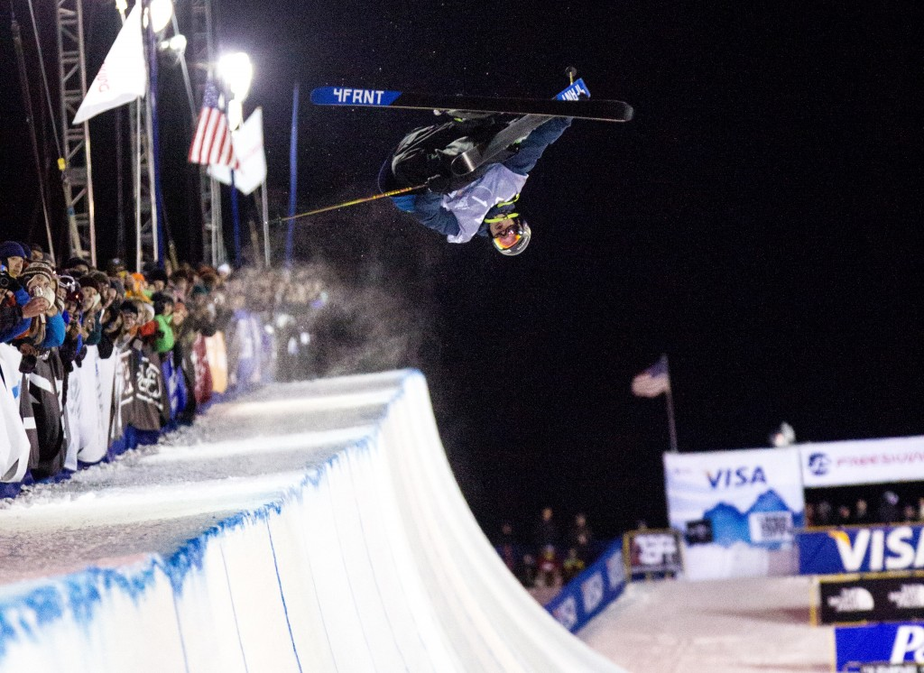 Olympic gold medalist David Wise at the 2014 Grand Prix in Park City. USSA/Sarah Brunson