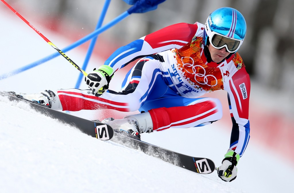 Steve Missillier on his way to Olympic silver in Sochi. GEPA/Christian Walgram