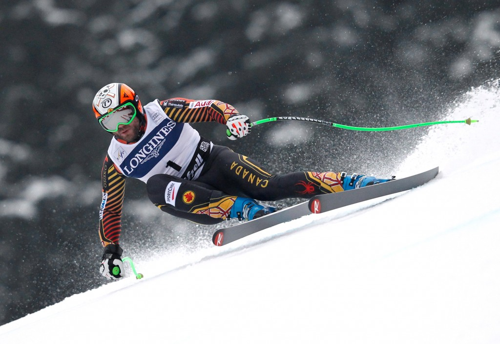 Jan Hudec races in the 2014 Kvitfjell World Cup. GEPA/Harald Steiner