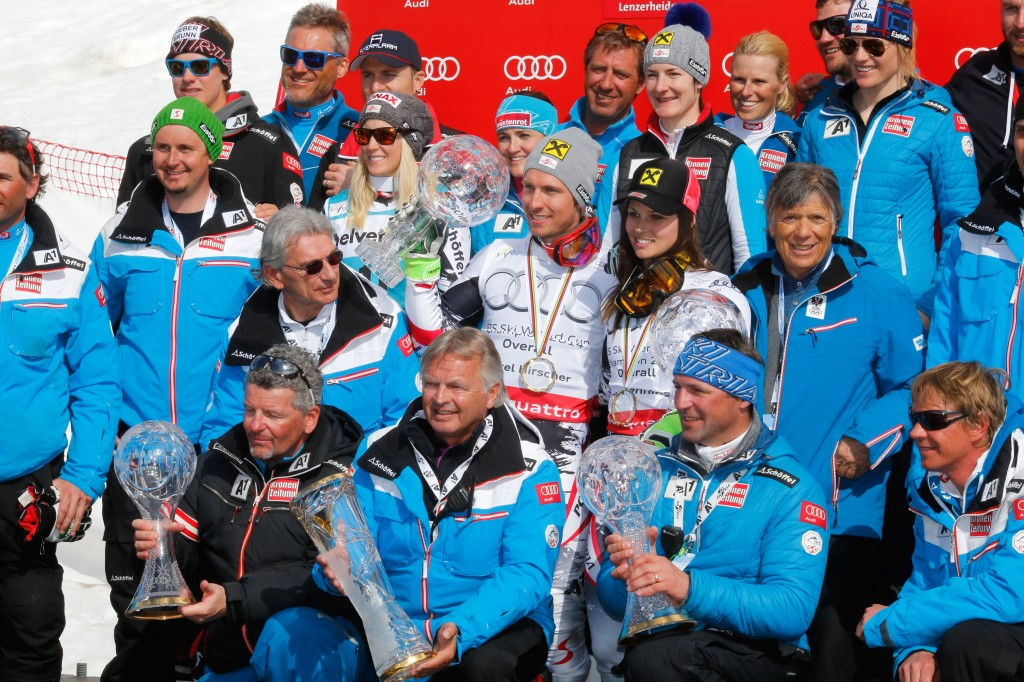 Austrian Ski Team at 2014 World Cup Finals. GEPA/Wolfgang Grebien